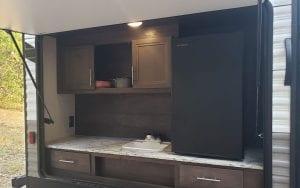 Exterior rental RV mini kitchen