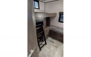 Interior rental RV bunk beds #1