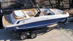 Bayliner boat on a trailer