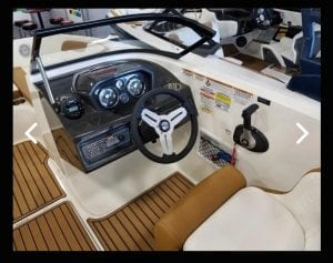 Interior view on a Bayliner console
