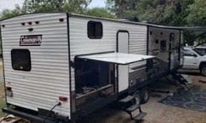 RV camper outside