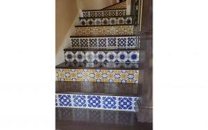 Spanish tiled interior stairs